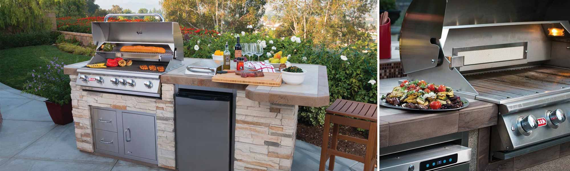 GrillsOutdoor Kitchen - Dining table with built in grill