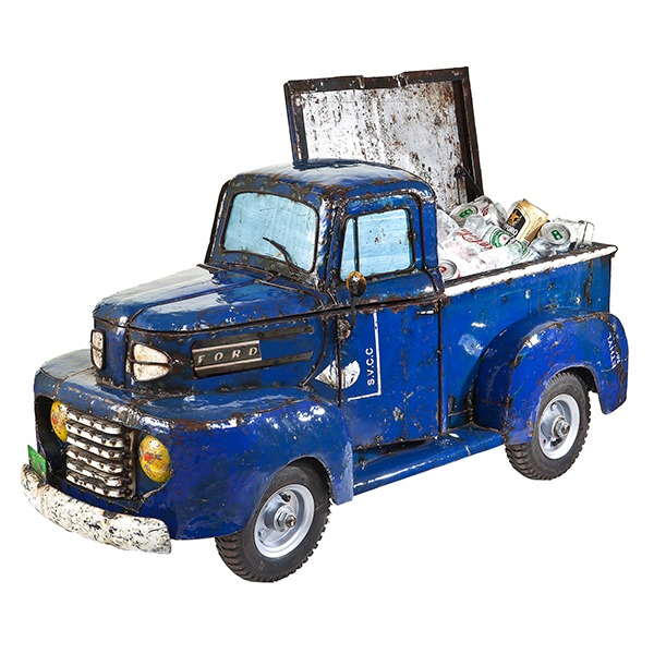 Big Ford Pick Up Blue Cooler